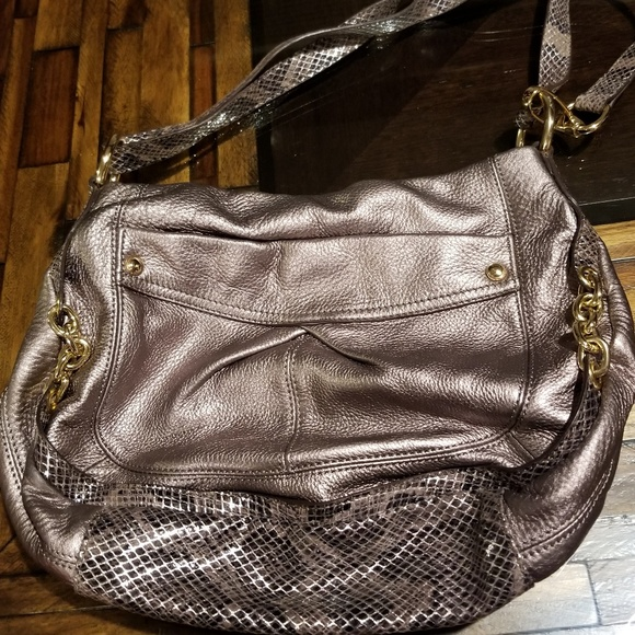 b. makowsky Handbags - Faux Leather & Snakeskin Purse